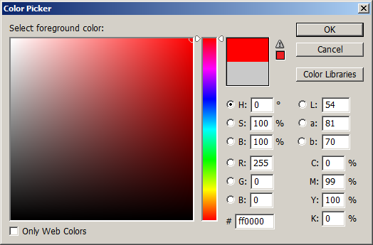 Photoshop 的 Color Picker